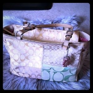 Beautiful Summer Coach Tote- Medium